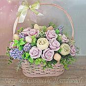 Цветы и флористика handmade. Livemaster - original item Flower arrangement of handmade soap
