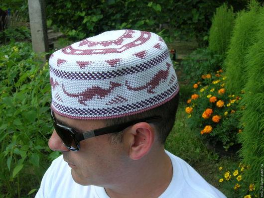 """Для мужчин, ручной работы. Ярмарка Мастеров - ручная работа. Купить Летняя шапка  """"Кенгуру 1"""". Handmade. Комбинированный, на осень"""