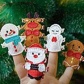 Подарки к праздникам handmade. Livemaster - original item Santa and Co. A set of Christmas ornaments.. Handmade.