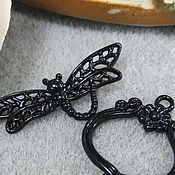 Материалы для творчества handmade. Livemaster - original item Lock toggle Black dragonfly art. 7-10. Handmade.
