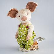Куклы и игрушки ручной работы. Ярмарка Мастеров - ручная работа Хрюня тедди поросенок. Handmade.
