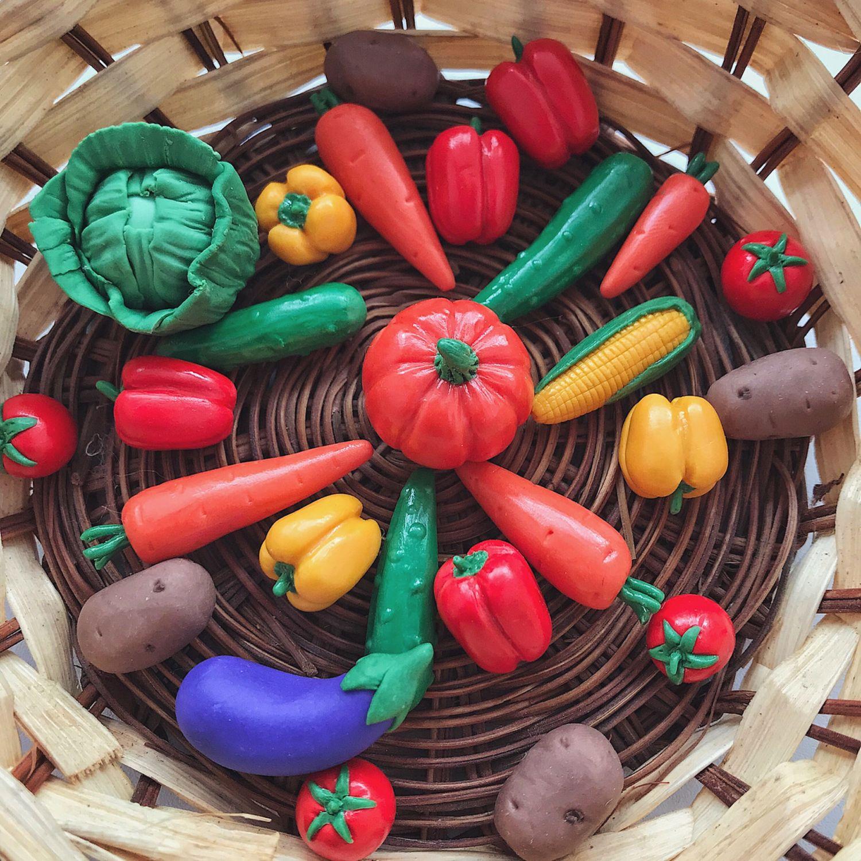 Овощи из полимерной глины, Мини фигурки и статуэтки, Саратов,  Фото №1