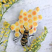 Украшения handmade. Livemaster - original item Yellow brooch