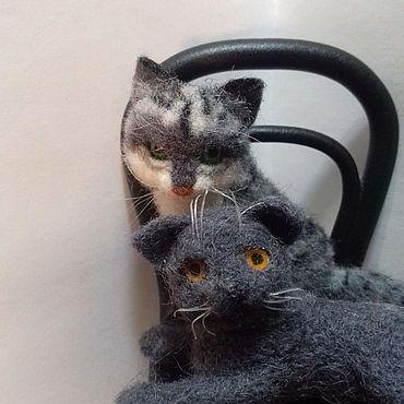 Котики интерьерные,можно использовать в кукольном домике.