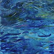 Картины и панно ручной работы. Ярмарка Мастеров - ручная работа картина маслом шторм. Handmade.