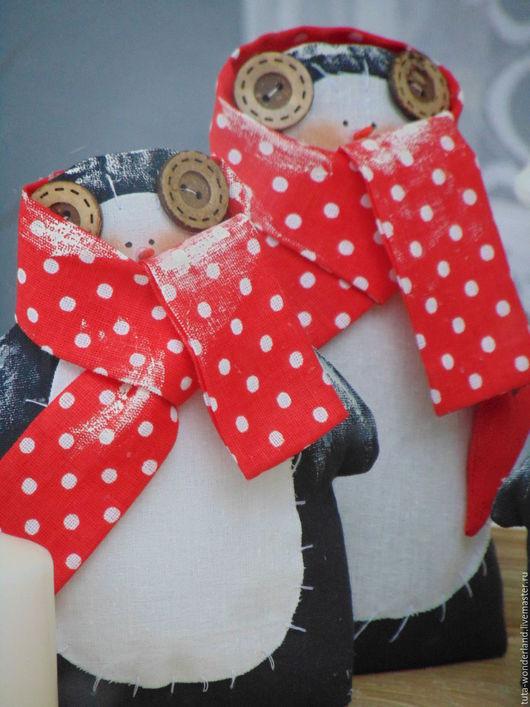 Игрушки животные, ручной работы. Ярмарка Мастеров - ручная работа. Купить Тильда Пингвин. Handmade. Черный, сувениры и подарки, красный