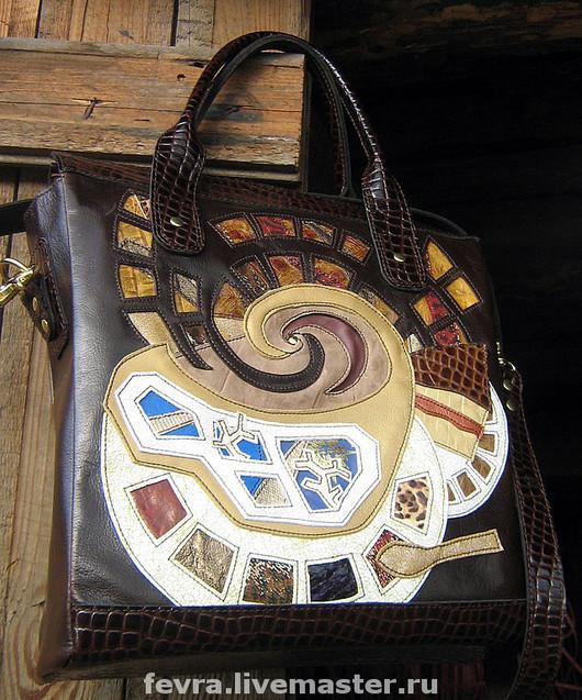 Handbags handmade. Livemaster - handmade. Buy Bag 'Smell The Coffee'..Author bag, hundertwasser, gold color, skin