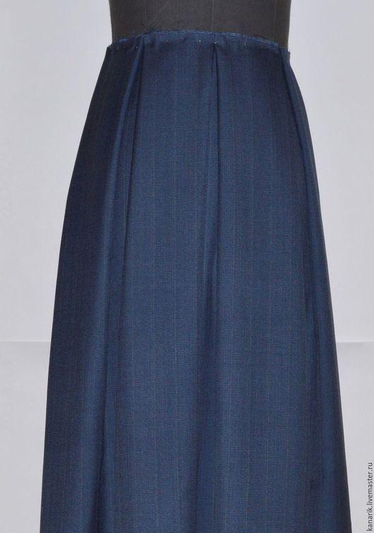 """Юбки ручной работы. Ярмарка Мастеров - ручная работа. Купить """"серо- синяя""""  юбка .. Handmade. Комбинированный, юбка короткая"""
