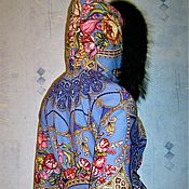 Одежда handmade. Livemaster - original item Winter jacket from Pavlovo Posad shawl