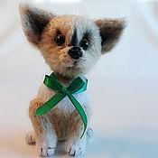 Мягкие игрушки ручной работы. Ярмарка Мастеров - ручная работа Чихуахуа, вязаный щенок. Handmade.