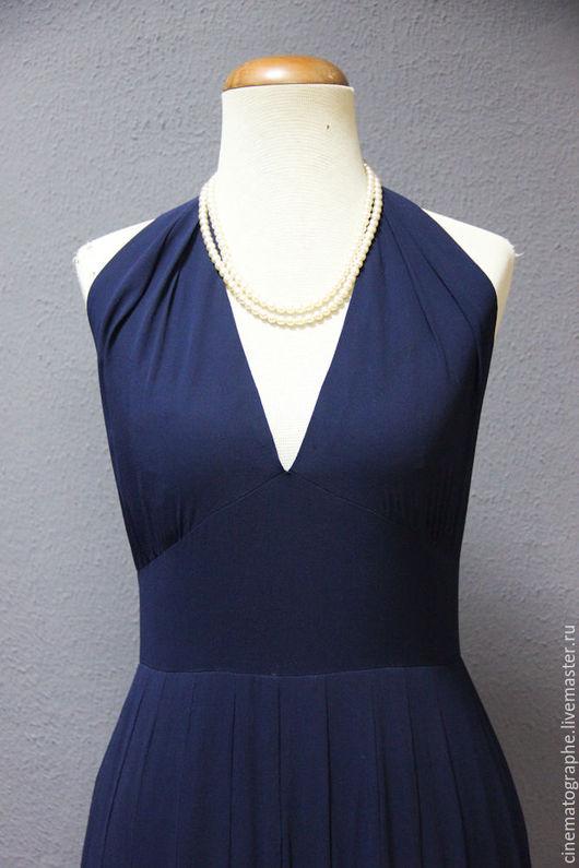 Одежда. Ярмарка Мастеров - ручная работа. Купить Комплект платье GUY LAROCHE винтаж кутюр. Handmade. Тёмно-синий, laroche