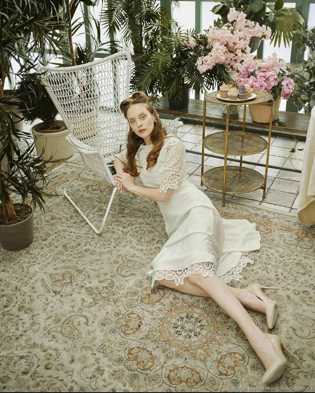 Платье с кружевом макраме, Платья, Москва,  Фото №1