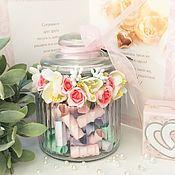 Свадебный салон ручной работы. Ярмарка Мастеров - ручная работа Подарок на свадьбу 100 и 1 причина семейного счастья. Handmade.