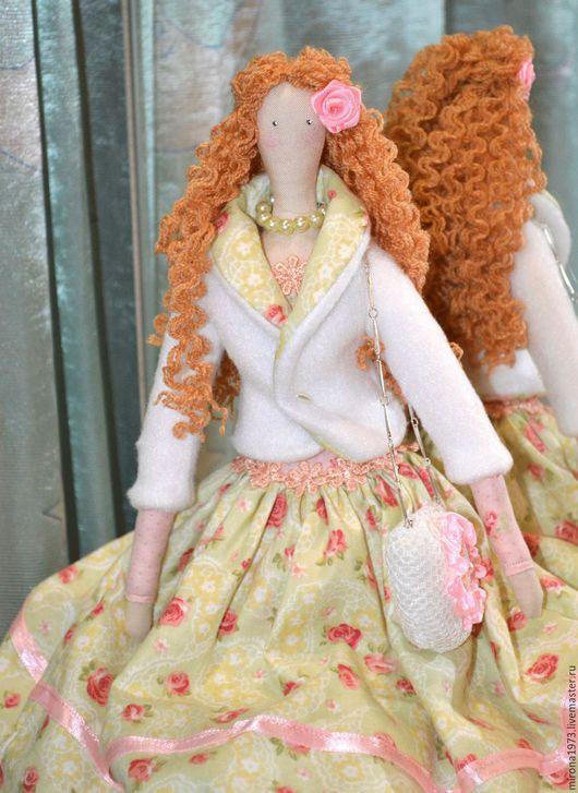Куклы Тильды ручной работы. Ярмарка Мастеров - ручная работа. Купить Тильда Жоржетта. Handmade. Салатовый, интерьерная кукла, кружево