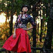 Куртки ручной работы. Ярмарка Мастеров - ручная работа Модная курточка из купонной стеганной ткани с розами. Handmade.