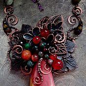 Украшения handmade. Livemaster - original item Forest pendant AUTUMN MORNING. Handmade.