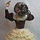 Портретные куклы ручной работы. Дама с канарейкой. Елена (emeldolls). Ярмарка Мастеров. Подарок женщине, бархат