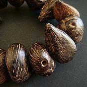 Материалы для творчества handmade. Livemaster - original item Beads nuts Golden Linden 33h18mm. Handmade.