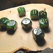 Активный отдых и развлечения handmade. Livemaster - original item Chips and dice: Playing blocks made of natural stone. Handmade.