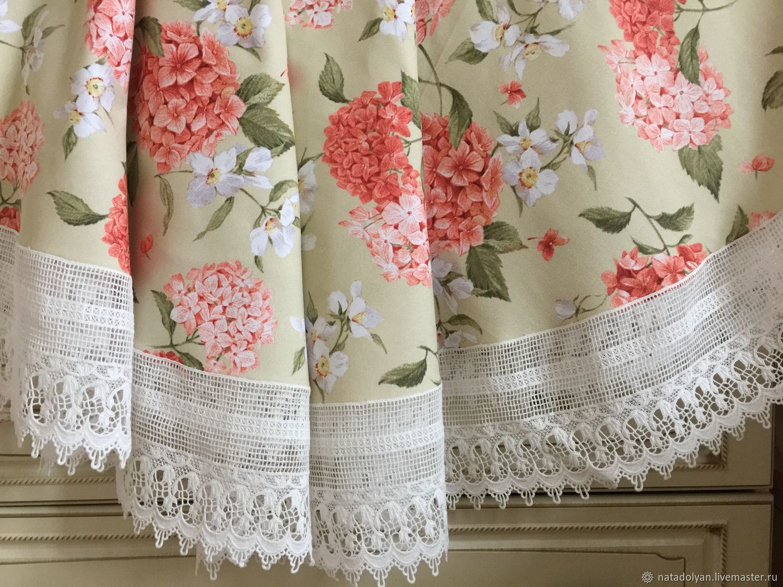 The cloth interior cotton ' Blooming hydrangea', Tablecloths, Ivanovo,  Фото №1