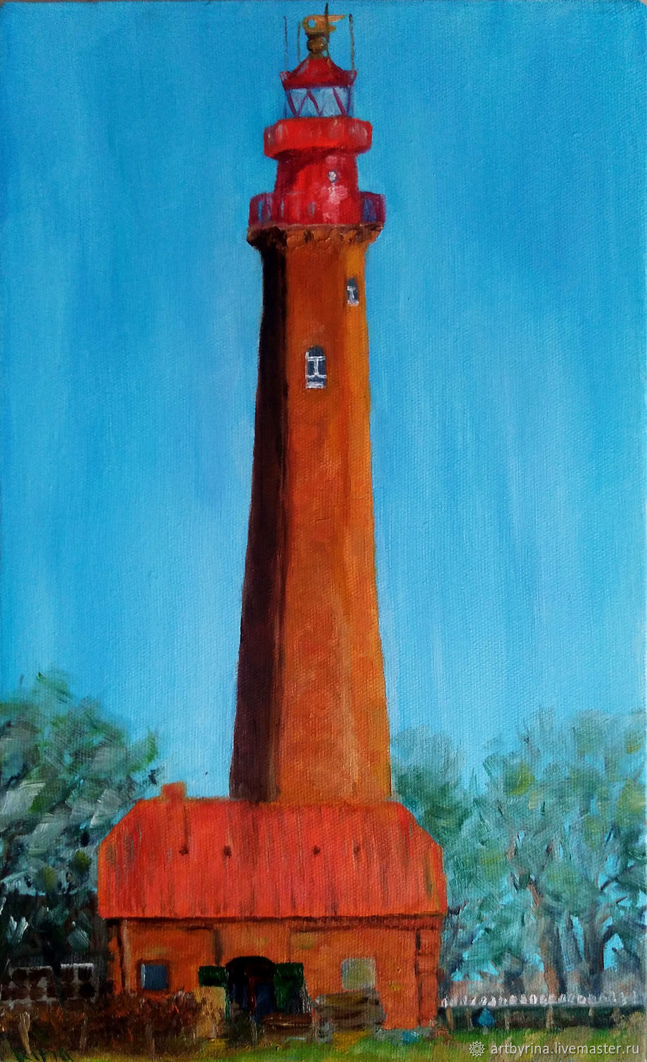 The lighthouse of the island of Fehmarn (canvas, oil, 30h50cm), Pictures, Ryazan,  Фото №1