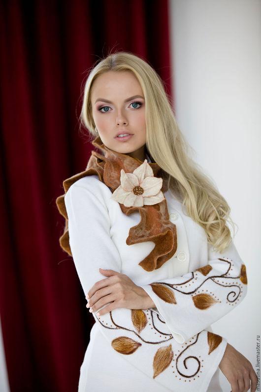 """Верхняя одежда ручной работы. Ярмарка Мастеров - ручная работа. Купить Пальто """"Вьюнок"""". Handmade. Комбинированный, масютина олеся"""