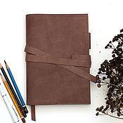 Канцелярские товары ручной работы. Ярмарка Мастеров - ручная работа Ежедневник а5 в обложке. Handmade.