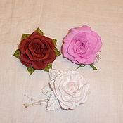 Украшения ручной работы. Ярмарка Мастеров - ручная работа Зажим -брошь Розы. Handmade.