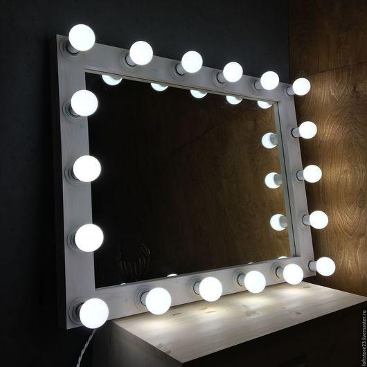 Зеркала ручной работы. Ярмарка Мастеров - ручная работа. Купить Гримерное зеркало WINTER TALE.. Handmade. Белый