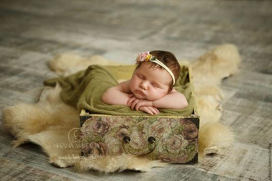 Для новорожденных, ручной работы. Ярмарка Мастеров - ручная работа. Купить Ящик для фотосъемки новорожденного / авторский реквизит. Handmade.