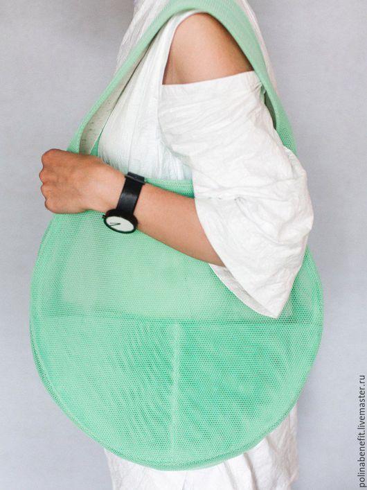 Женские сумки ручной работы. Ярмарка Мастеров - ручная работа. Купить Летняя сумка - таблетка из сетки 3D. Handmade. Сумка