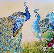 Картины и панно ручной работы. Ярмарка Мастеров - ручная работа Павлины в саду. Handmade.