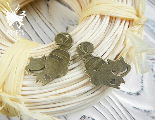 """Для украшений ручной работы. Ярмарка Мастеров - ручная работа. Купить Подвеска """"Чеширский кот"""" (П0285). Handmade. Подвеска"""