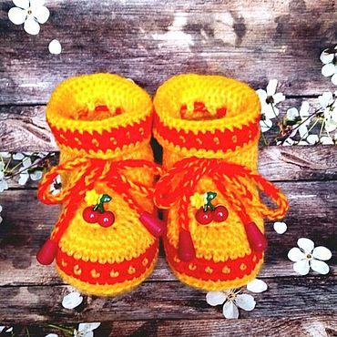 Товары для малышей ручной работы. Ярмарка Мастеров - ручная работа Пинеточки-ботиночки. Handmade.
