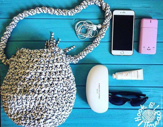 Женские сумки ручной работы. Ярмарка Мастеров - ручная работа. Купить Вязаная сумка. Handmade. Голубой, морской стиль