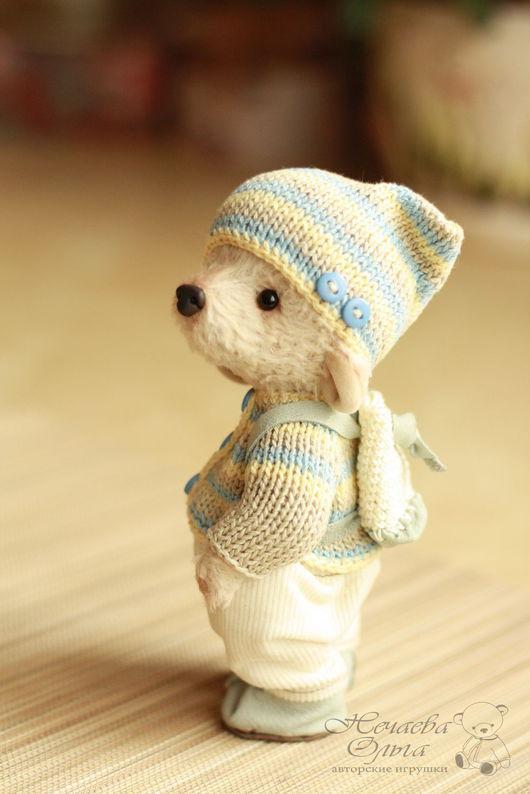 Мишки Тедди ручной работы. Ярмарка Мастеров - ручная работа. Купить Джонни. Handmade. Бежевый, мишки, теддик, полимерная глина