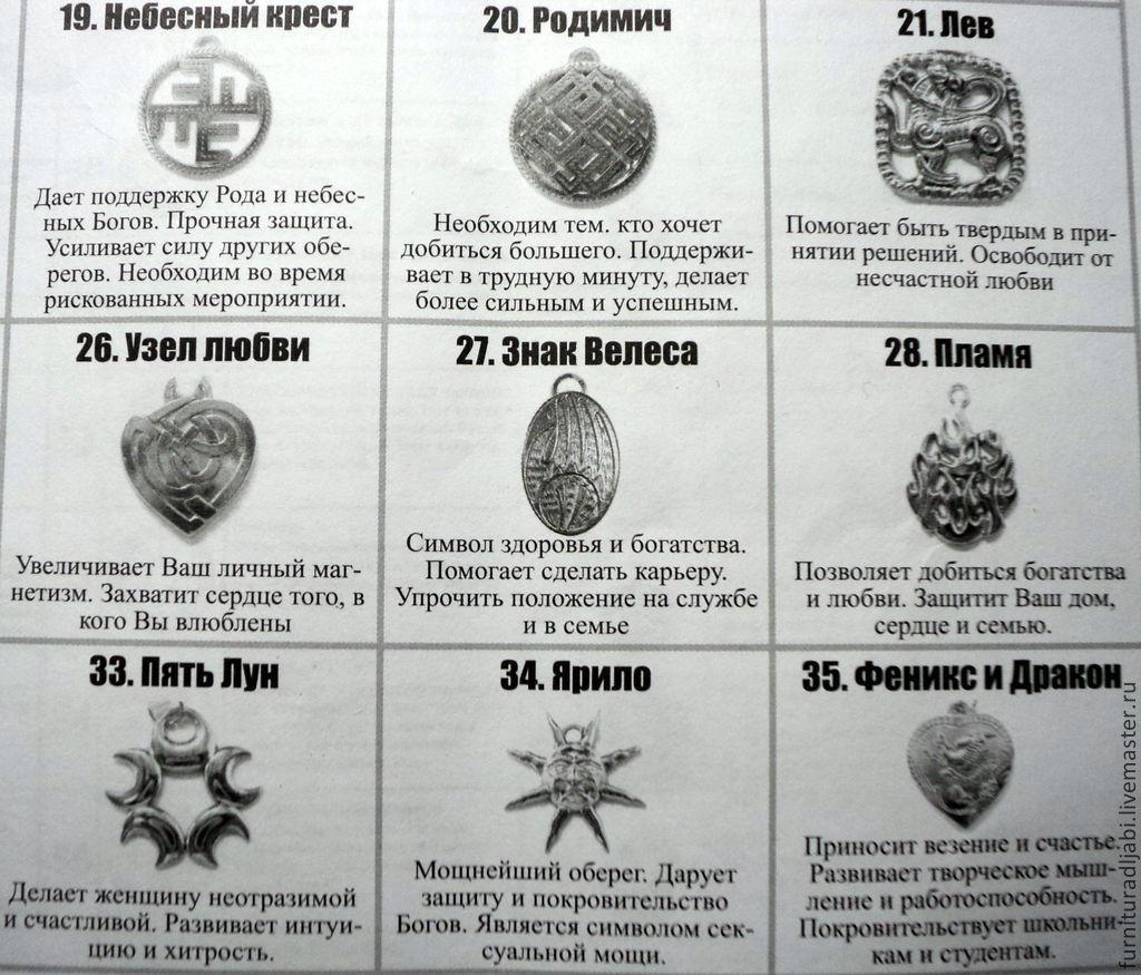 Славянские обереги значение описание и их толкование фото