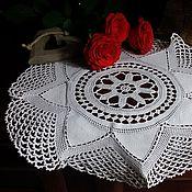 Винтаж handmade. Livemaster - original item Large vintage lace doily. Handmade.