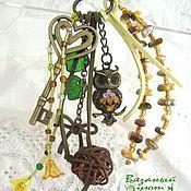 Аксессуары handmade. Livemaster - original item key chain owl pendant - the gift of prophecy. Handmade.