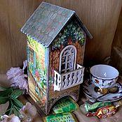 """Для дома и интерьера ручной работы. Ярмарка Мастеров - ручная работа """"Солнечный дворик""""Чайный домик. Handmade."""