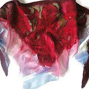Аксессуары handmade. Livemaster - original item Batik Bacchus felted Ice and fire. Handmade.