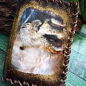 Сумки и аксессуары handmade. Livemaster - original item Cover for lynx auto documents. Handmade.