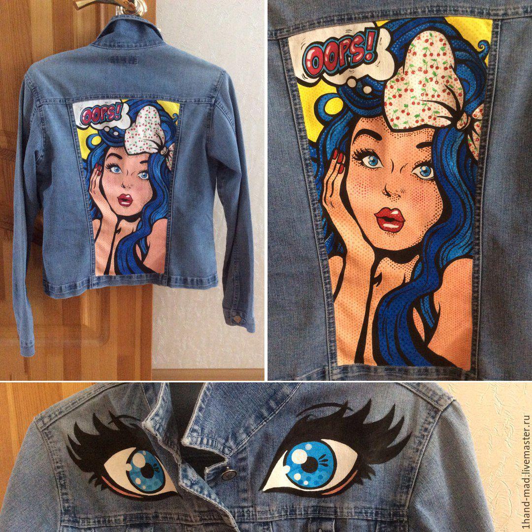 Роспись джинсовых курток акриловыми красками