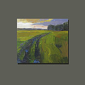 Картины и панно handmade. Livemaster - original item The low sun of autumn oil Painting. Handmade.