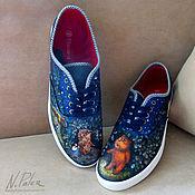 Обувь ручной работы handmade. Livemaster - original item Painting on shoes. Slip-ons
