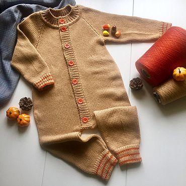 Товары для малышей ручной работы. Ярмарка Мастеров - ручная работа Комбинезон Кашемировый. Handmade.
