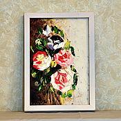 Сувениры и подарки ручной работы. Ярмарка Мастеров - ручная работа Картина Букет роз. Handmade.