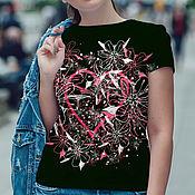 Одежда handmade. Livemaster - original item Women`s t-shirt Blooming Heart. Handmade.