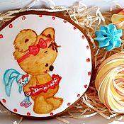 Пряники ручной работы. Ярмарка Мастеров - ручная работа Пряники: Милая мишка с зайкой и безе. Handmade.