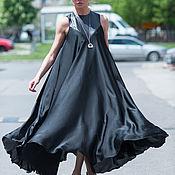 Одежда handmade. Livemaster - original item Extravagant, summer polka dot chiffon dress - DR0247CH. Handmade.